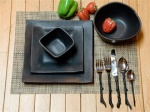 """Charcoal"" Dinnerware - Four Place Settings"