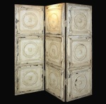 Reclaimed Tin Folding Screen