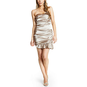 A.B.S. Tan Ruched Dress