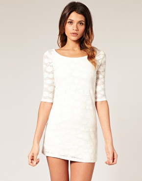 ASOS White Lace Dress