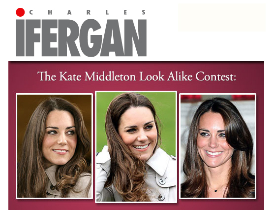 Charles Ifergan Salons hosts Kate Middleton Look-Alike Contest
