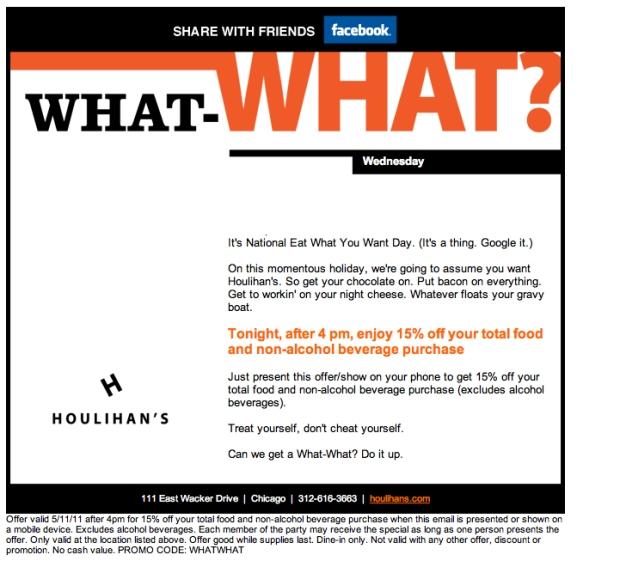 15% Off Houlihans