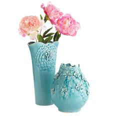 Aqua Teal Vases