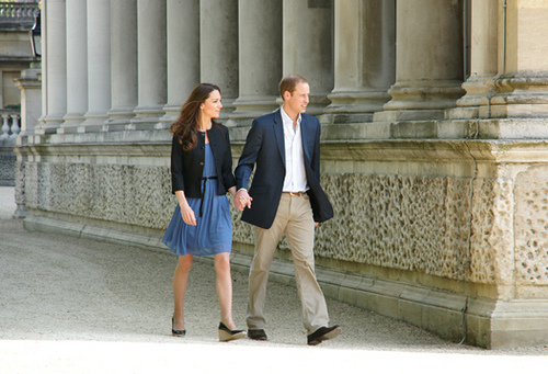 Kate Middleton Day After Wedding Zara Blue Dress