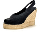Kate Middleton Black Wedges - Castaner Betty Wedge