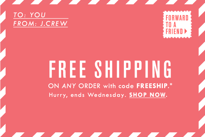 How to use a J. Crew Factory coupon J. Crew Factory offers free shipping on orders over $ and discounted shipping on all other orders. Check the fine print on the website to find coupon codes good for promotions like extra percentages off certain items and up to 60% off select sale items%(36).
