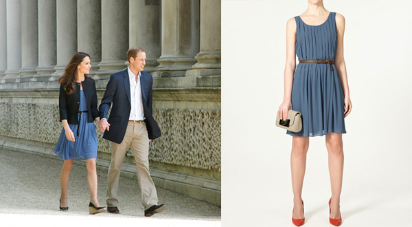 Zara Kate Middleton Blue Dress