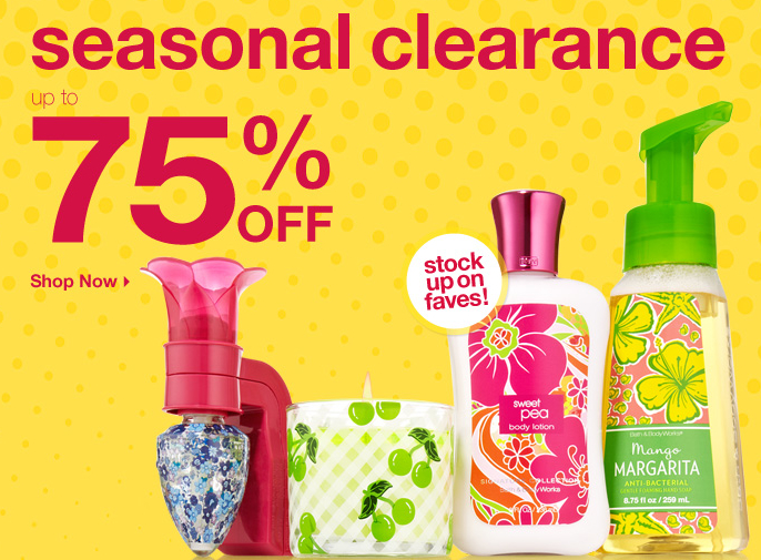 Bath & Body Works Clearance