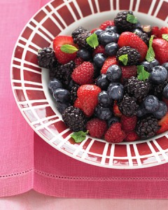 Martha Stewart / Mixed Red & Blue Berry Bowl