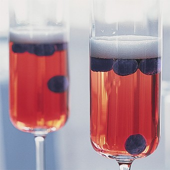 4th of July Punch - Cranberry punch with blueberries