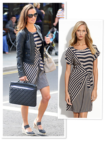 Pipa Middleton Striped Blue Dress