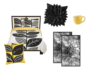Black andYellow Dorm Decor