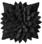 Black Flower Pillow