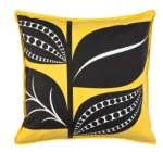 Black and yellow pillow