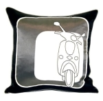 Gray Scooter Pillow