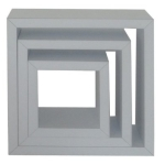 Silver Wall Cubes