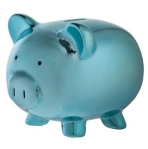 Teal Piggy Bank