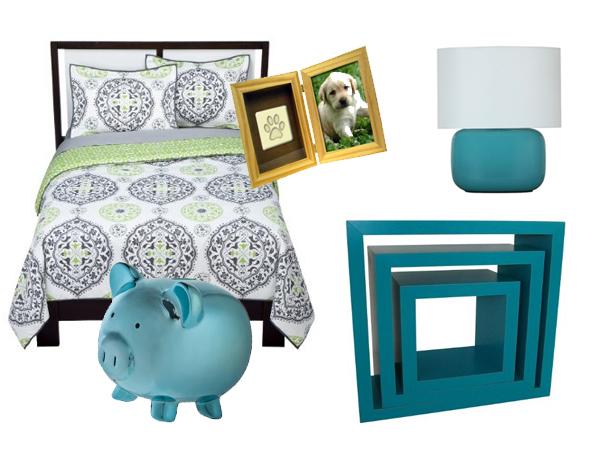 Turquoise Dorm Ideas