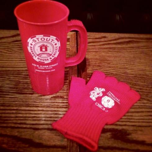 Stout Badger Glove and Mug