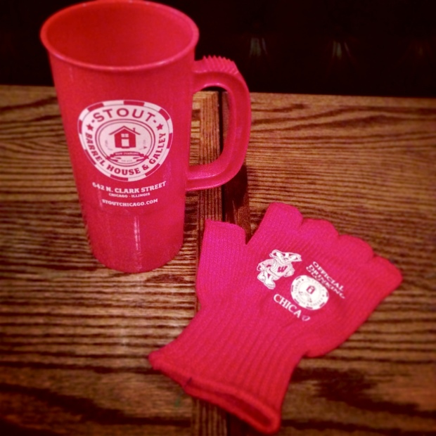 Stout Badger Glove and Mug