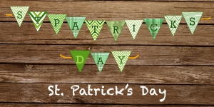 Print At Home St. Patrick's Day Banner
