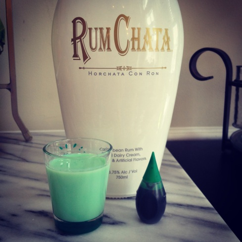 Green St. Patrick's Day Rum Chata (poorgirlsguidechicago.com)