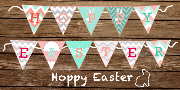image regarding Happy Easter Banner Printable named PG Printables Retail outlet: Hoppy Easter Banner the Space FOR Extra