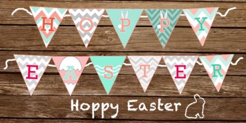 DIY Hoppy Easter Banner
