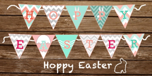 DIY Hoppy Easter Banner