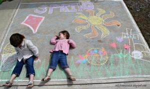 Free Sidewalk Chalk Party