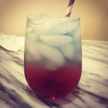 Red white and blue layered drink (Poor Girl's Guide Chicago)